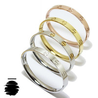 Cartier Inspired Replica Love Bracelet without Crystal in Gold, Rose Gold, Silver Gold or Silver