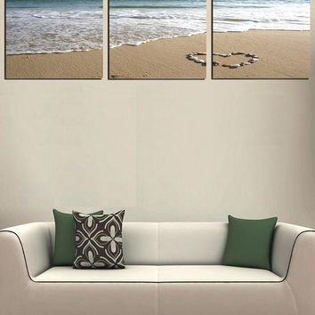 Sea Beach Love Print Home Decor Wall Art Paintings