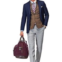 Jacket Navy Plain Havana C757 | Suitsupply Online Store