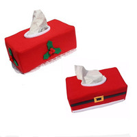 1PC Merry Christmas Tissue Box Cover Christmas Decorations For Home New Year Napkin Holder Christmas Decoration Supplies
