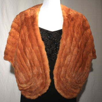 Red Fox Fur Cape / Shrug