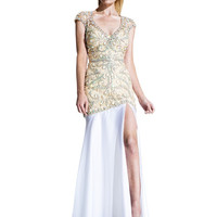JOHNATHAN KAYNE 510 Swarovski Cyrstal and Beaded Satin Prom Evening Dress
