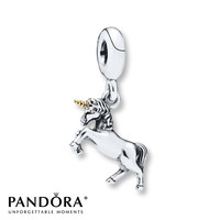 Pandora Dangle Charm Unicorn Sterling Silver/14K Gold