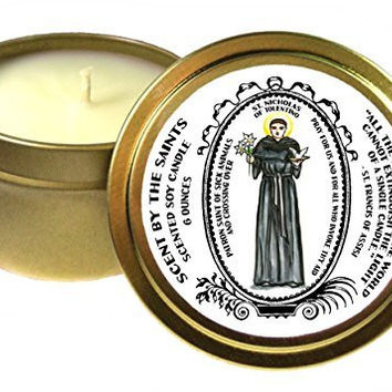 St Nicholas of Tolentino Patron of Sick Animals & Crossing Over 6 Oz Scented Soy Candle