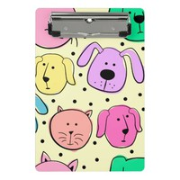 Cute Colorful Pet Pattern Mini Clipboard