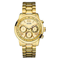Guess Multifunction Goldtone Stainless Steel Watch