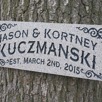 Engagement Gift: Wood Sign Wedding Gift Custom Sign Outdoor Sign Name Sign Personalized Sign Anniversary Man Cave  Acrylic CC