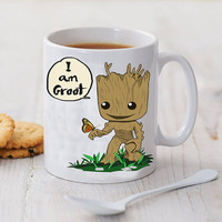 i am groot with butterfly mug