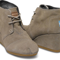TAUPE SUEDE WOMEN'S DESERT WEDGES