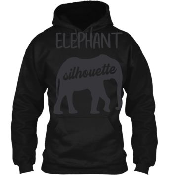 Men_s T Shirt Elephant Family Pattern is Behind Pullover Hoodie 8 oz