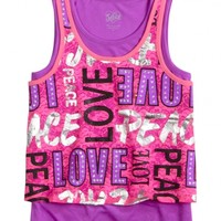 Lace Typography 2fer Tank | Girls Tanks Tops & Tees | Shop Justice