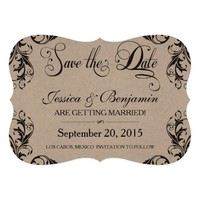 Damask Save The Date 5x7 Paper Invitation Card