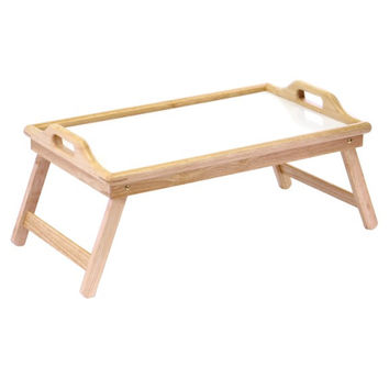 Breakfast Bed Tray with Handle, Foldable Legs