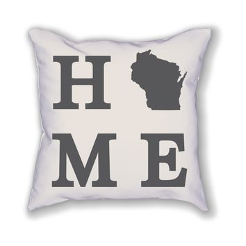 Wisconsin Home State Pillow