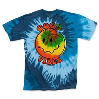 MENS BLUE GOOD VIBES TIE DYE TEE