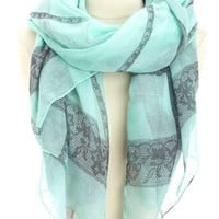 LIGHTWEIGHT LACE PRINTED SCARF