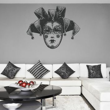 ik1188 Wall Decal Sticker Venetian mask Venice Carnival bedroom