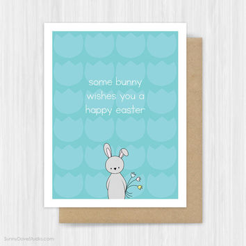 Easter Bunny Cards Cute Funny Bunny Pun Card For Friend Sister Mom Daughter Niece Her Handmade Greeting Cards Fun Happy Easter Gifts