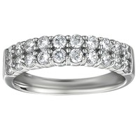 1ct tw Diamond Anniversary Ring in 14K White Gold - Ladies Wedding Rings - Wedding Rings