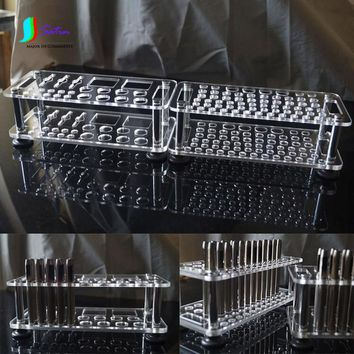 Small Size Transparent Acrylic Material Leather Tool Punching Storage Rack,Leather tool Tidy Frame Desk S0192L