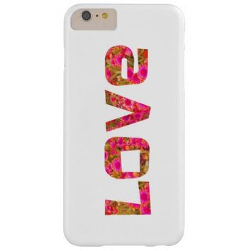 colorful love girlie pink and white text design barely there iPhone 6 plus case