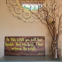 Scripture Sign - Scripture Wood Sign - Bible Sign - Bible Verse Wood Sign - Christian Sign - Housewarming Gift - Gift for Her