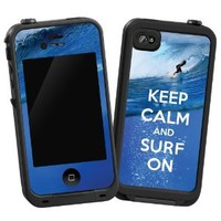 "Keep Calm and Surf On ""Protective Decal Skin"" for LifeProof 4/4S Case"