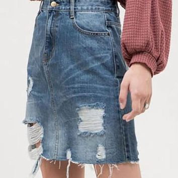 Coral Springs Denim Skirt