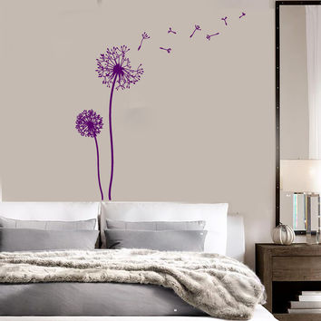 Vinyl Wall Decal Dandelion Floral Girl Room Decor Stickers Mural (ig3357)