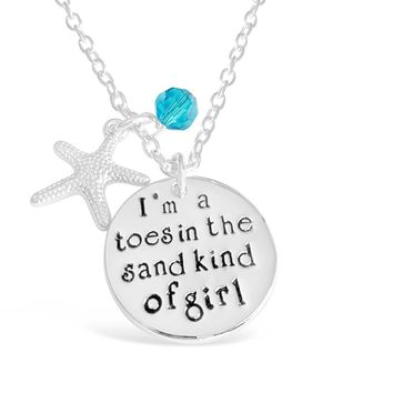 I Am A Toes In The Sand Kind Of Girl Necklace