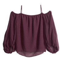 Bohemian-style blouse - from H&M