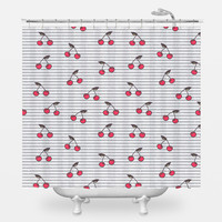 Cute Cherries Shower Curtain