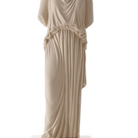 Custom- made medium ceramine statue Caryatid ochre