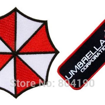 Resident Evil Umbrella Corporation logo badge biker retro tv movie applique sew on/ iron on patch clothing