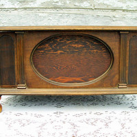 Art Deco Radio Cabinet Chest Storage by Holliezhobbiez on Etsy