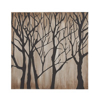 Modern Tree Themed Painting Print on Canvas