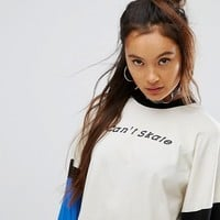 The Ragged Priest Skater Top With Can't Skate Slogan at asos.com