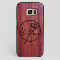 New York Yankees Galaxy S7 Edge Case - All Wood Everything