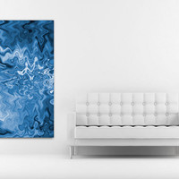 Instant Download Art, Blue Art, Printable Art, Blue Printable Artwork, Blue Abstract Art, Instant Download Printable, Blue Wall Decal