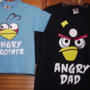 Angry Birds Blue Bird, Black Bird or Red Bird, Angry Pig T-Shirt Bird Birthday Party Custom Shirt Personalized