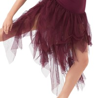 High-Waist Soft Tulle Skirt