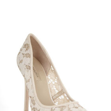 BCBG Opia High-Heel Lace Pointed-Toe Pump
