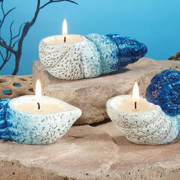 "6  "" Seashell ""  Scented Candles - Ocean Mist Scented"