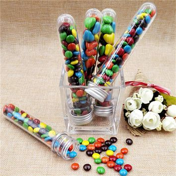 25pcs/lot 40ml Plastic Test Tube Skittles Candy Box Baby Shower Handmade Candy Box Birthday Party  Decor Gift Box