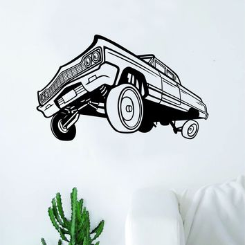 Hydraulics Car Decal Sticker Bedroom Living Room Wall Vinyl Art Home Decor Teen Nursery Vintage Man Cave Classic Auto