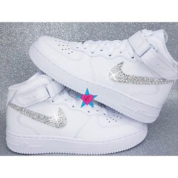 Custom Rhinestone Crystal Nike Air Force 1s