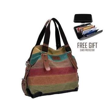 Viva Voyage Wild Zebra Journey Bag With FREE RFID Wallet