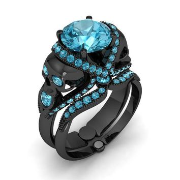 Our Best Selling Skull Engagement Set Silver
