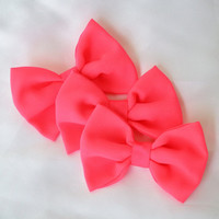 Neon Princess Clip-On Bow