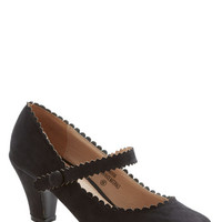 ModCloth Sentimental Strides Heel in Black